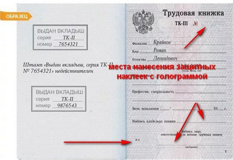 Правила и порядок использования голограмм в трудовых книжках и бланках вкладышей к ним, с точки зрения защиты документа